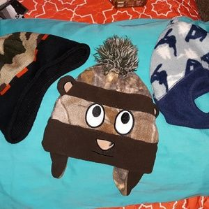 3 toddler beanies!! Cute cute.
